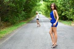Two pretty women Stock Photos