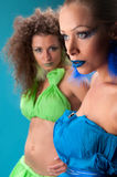 Two pretty women Stock Images