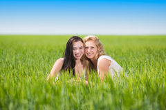 Two pretty women Royalty Free Stock Photography