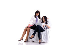 Two pretty young businesswomen Royalty Free Stock Photos