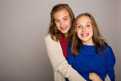 Two pretty young girls Stock Image