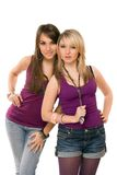 Two pretty young ladies Royalty Free Stock Photos