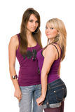 Two pretty young women Royalty Free Stock Photos
