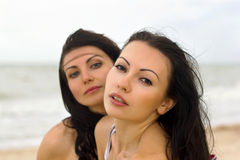 Two pretty young women Royalty Free Stock Images