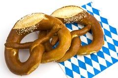 Two pretzels on napkin Stock Photo