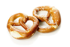 Two Pretzels Stock Image