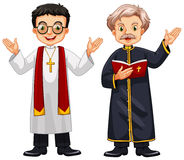 Two priests with happy face Stock Photography