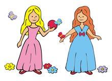 Two princesses Stock Photo