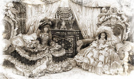 Two princesses (vintage style) Royalty Free Stock Image