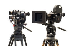 Two professional 35�� of the film-chamber. Two professional 35mm of the film-chamber and tripod Stock Images