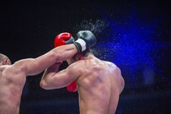 Two professional boxer boxing. Fight sport . Two professional boxer boxing. Fight sport stock photo