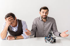 Two professional colleagues are working on project Stock Images