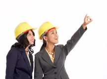 Two professional draftswoman Royalty Free Stock Photo