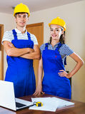 Two professional planner did great work  indoors Royalty Free Stock Image