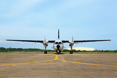 Two propeller aircraft Stock Images