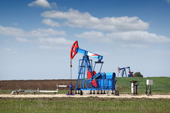 Two pump jack Royalty Free Stock Photo