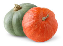 Two pumpkins Royalty Free Stock Photos