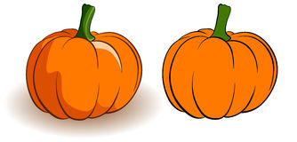 Two pumpkins Royalty Free Stock Photography