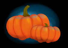 Two pumpkins Royalty Free Stock Images