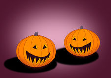 Two Pumpkins Royalty Free Stock Photo