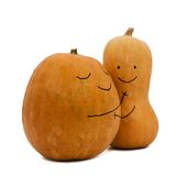 Two pumpkins in love Stock Photos