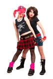 Two punk girls Royalty Free Stock Image