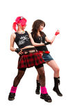 Two punk girls Stock Images