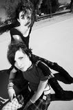 Two Punk Girls Royalty Free Stock Images