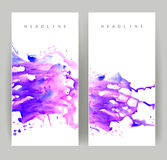 Two purple banners Royalty Free Stock Photo