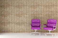 Two purple chairs Stock Photo