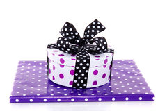 Two purple dotted gifts Royalty Free Stock Image