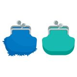 Two purse icons Stock Images