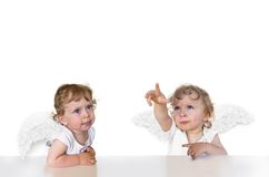 Two putti Royalty Free Stock Photos