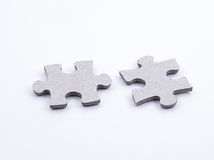 Two Jigsaw Puzzel Pieces Royalty Free Stock Photography
