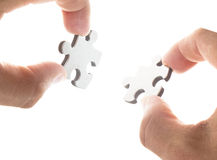 Two puzzle pieces Royalty Free Stock Images