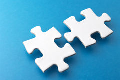 Two puzzle pieces. Stock Images