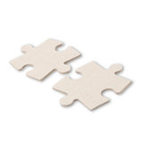 Two puzzle pieces isolated on white background Stock Images