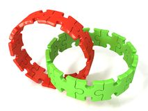 Two puzzle rings Royalty Free Stock Photo