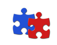 Two puzzles Royalty Free Stock Image
