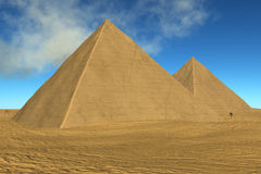 Two pyramids Stock Photo