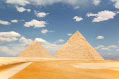 Two pyramids, Giza Royalty Free Stock Images