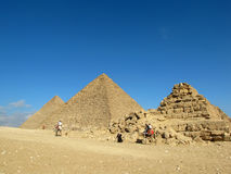 Two pyramids of Giza, Egypt Royalty Free Stock Photography