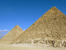 Two pyramids of Giza, Egypt Royalty Free Stock Photo