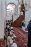Two qiblah mescid in Medina. Royalty Free Stock Photo