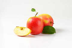 Two and quarter apples Royalty Free Stock Photos