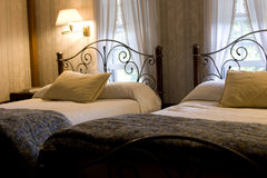 Two queen beds Royalty Free Stock Photos