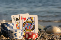Two queens by the sea Royalty Free Stock Image