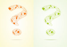 Two question from gifts, vector illustration Stock Images