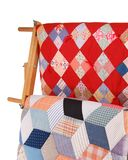 Two Quilts On A Wood Rack Royalty Free Stock Photography