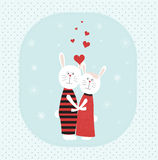 Two rabbits in love. Stock Photography